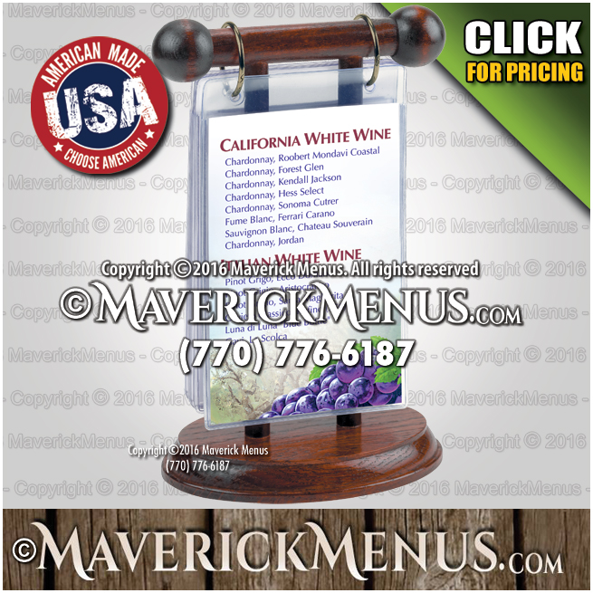 Custom Wooden Table Tents Made In The USA - Wooden table tents