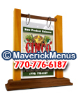 Cinco De Mayo Wooden Table Tents - AMERICANA-TANGERINE