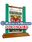 Cinco De Mayo Wooden Table Tents - GOLDENBROWN-AQUA