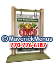 Cinco De Mayo Wooden Table Tents - SAGE-WEATHERED