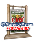 Cinco De Mayo Wooden Table Tents - WEATHERED