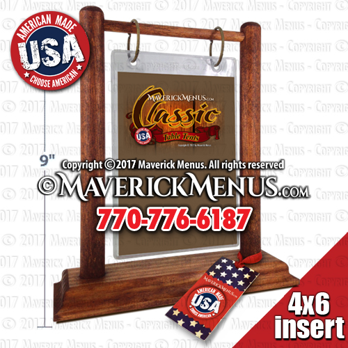 MM X CAMERICANA Classic Wooden Flip Top Table Tents - Flip top table tent