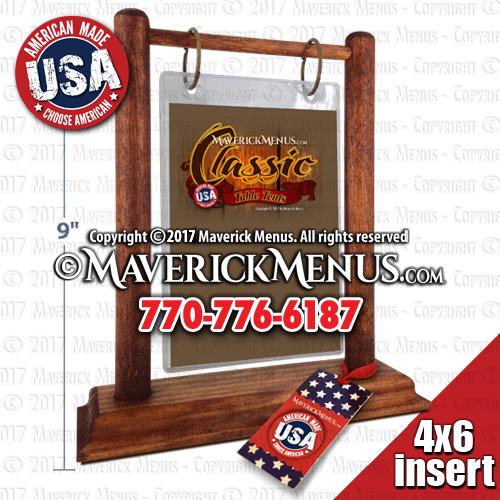 Classic Wooden Flip Top Table Tents  MM-13-46-C-AMERICANA