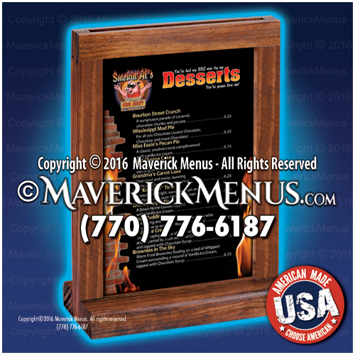wood table tents
